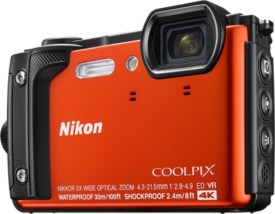 Nikon Coolpix W300 Orange Holiday Kit, Nikon
