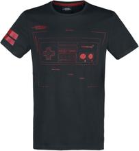 Nintendo - NES - Nintendo Entertainment System - Retro Controller -T-skjorte - svart