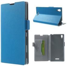 Bellman (Blå) Sony Xperia T3 Äkta Läder Flip Fodral
