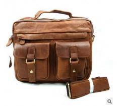 Läderväska med axelrem