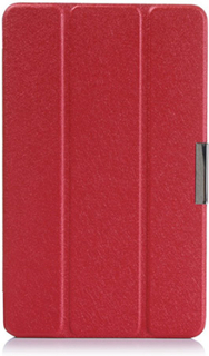 Garff Silk Acer Iconia Tab 8 A1-840 Lær Stand Etui - Rød