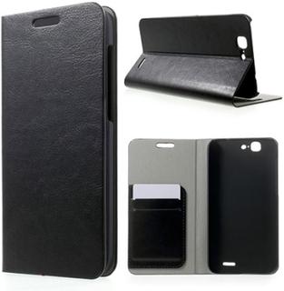Mankell Huawei Ascend G7 Lær Flipp Etui - Sort