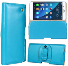 Gaarder Pouch Huawei Honor 6 Plus Ekte Lær Belt Etui - Lyse Blå