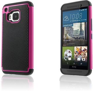 Fotball Grain HTC One M9 Deksler - Varm Rosa