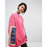 Ragyard - Sweatshirt med märken - Rosa