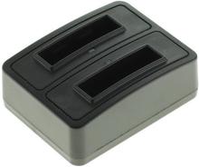 Dubbelladdare för 2 batterier HP L1812A och L1812B