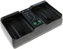 Dubbelladdare för 2 batterier Nikon EN-EL18 och EN-EL18b