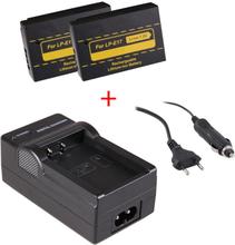 2 stk kamerabatterier LP-E17 til Canon + oplader