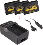 3 st kamerabatterier LP-E17 för Canon + laddare