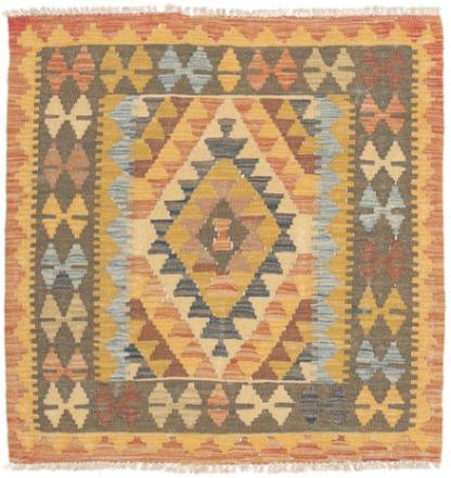 Kelim Afghan Old style teppe 92x95 Orientalsk, Kvadratisk Teppe