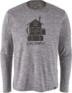 Patagonia M's Cap Cool Daily Graphic LS Shirt Live Simply Home/Feather Grey L 2019 Løpetrøyer langermet