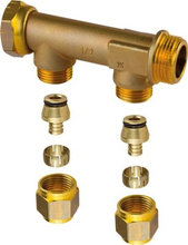 """UPONOR FORD.RØR 3/4""""OMLØBER 2X15 C/C50MM"""
