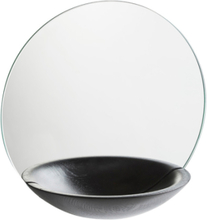 Woud Pocket Mirror, large black 32 cm