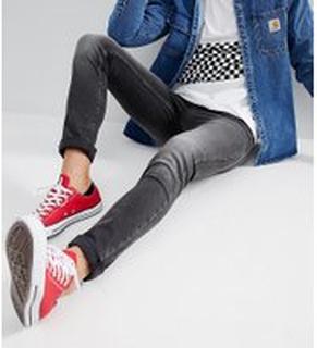 Just Junkies - Gråtvättade jeans i smal passform - Grey black