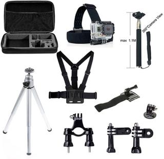10 i en GoPro tilbehør Set med Bryst Belte, Headstrap og Tripod for GoPro Hero 4/3 + / 3 / 2/1