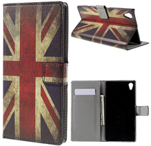 Moberg Sony Xperia Z5 Premium lær etui med stativ - Vintage UK Flag