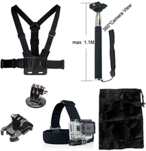 6 i en - Tilbehørs Kit for GoPro Hero