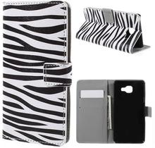 Moberg Lær etui med kortspor for Samsung Galaxy A5 SM-A510F (2016) - Zebra Stripe