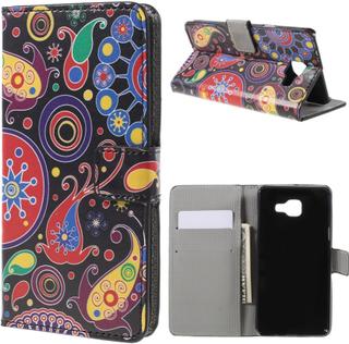 Moberg Lær etui med kortspor for Samsung Galaxy A5 SM-A510F (2016) - Paisley Pattern