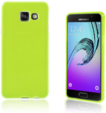 Solid Jelly TPU deksel for Samsung Galaxy A3 SM-A310F (2016) - grønn