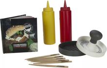Gusta hamburgerpress i 13 delar plast 01151960