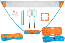 Get & go get & go badmintonspel set blå och orange 65ka