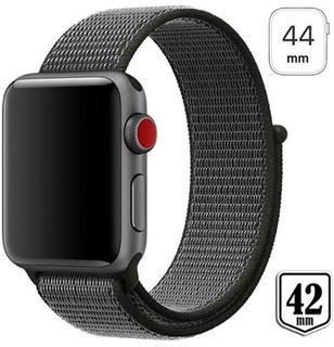 Apple Watch Series 4/3/2/1 Nylon Rem - 44mm, 42mm - Army Grøn