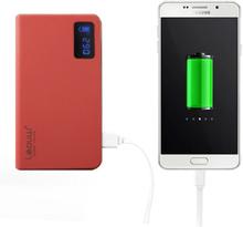 LEYOU 12000mAh Dubbel-USB Powerbank för Smartphones - Röd