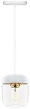 Umage Acorn Pendel med hvit ledning, Hvit/poleret messing