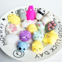 Cute mochi Squishy toys colorful change Antistress Ball cat Squeeze cute Animal squishes slow rising Stress Relief Decompression