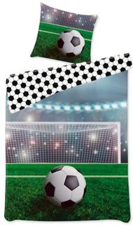 Fodbold Sengetøj - 140x200 cm - 100% bomuld