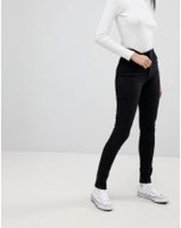 Levi's - Line 8 - Beskurna superskinny jeans med hög midja - L8 carbon