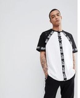 Bikkembergs - T-shirt med banddetalj - Vit