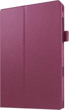 Edwardson Samsung Galaxy Tab A 7.0 Beskyttende etui m/ litchi tekstur - Lilla