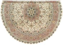Tabriz 50 Raj med silke matta Ø 500 Orientalisk, Rund Matta