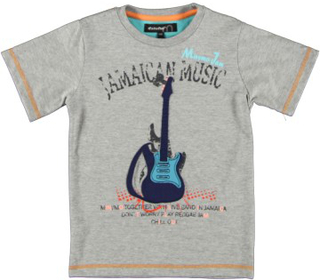 Minymo barn t-shirt liam 04 -jamaica light grey melange