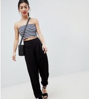 ASOS DESIGN Petite ultimate jersey harem trousers - Black