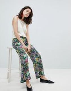 Mango Floral Print Trouser - Multi