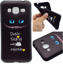 Samsung Galaxy J3 (2016) silikondeksel m. motiv - Ikke rør telefonen min!