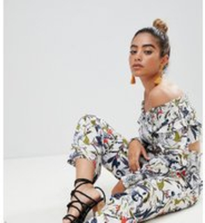 Boohoo exclusive floral wide leg trouser - Multi