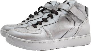 Geox D NIMAT A damer höga sneakers silver stövlar läderskor EUR 41 ...