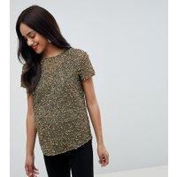 ASOS DESIGN - Mammakläder - T-shirt med paljetter - Khakigrön