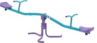 Plum roterande gungbräda utelek utrustning lila/grön Silver och röd