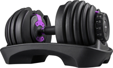 Adjustable Dumbbell Weight Set Selecttech Fitness Workout Gym Purple 52.5lbs Standard Adjustable Dumbbell with Handle 52.5lbs