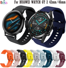 Bracelet Accessories 20mm 22MM For HUAWEI WATCH GT 2 42mm 46mm Sport silicone Replacement watch strap For HUAWEI WATCH GT 1