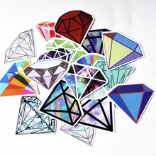 TD ZW 18Pcs Transparent Diamond Design Stickers For Snowboard Car Laptop Luggage Skateboard Motorcycle Phone Decal Pegatinas
