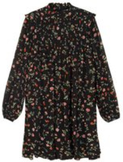 Sort Ganni Ganni Printed Georgette Dress Kjoler