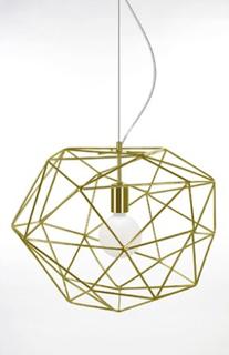 Globen Lighting Pendel Diamond Mässing