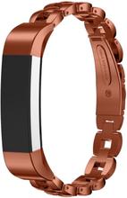 Fitbit Alta solid lenket klokkereim av rustfritt stål - Kaffe