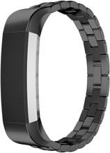 Fitbit Alta treperlet klokkereim av rustfritt stål - Svart